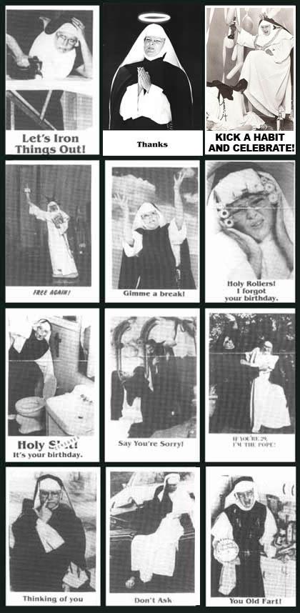 The official nunsense store nun cards m4hsunfo
